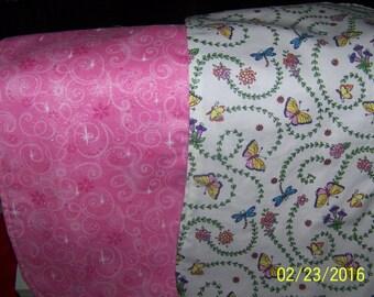 Momogrammed Baby Girl Burp Cloth