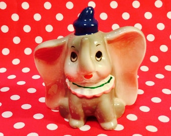 Walt Disney Anthropomorphic Dumbo the Flying Baby Elephant Figurine made in Japan circa 1950s