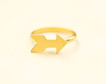 Gold Arrow Ring, Arrow Ring, Small Gold Ring