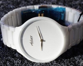 Ceramic watch-Axiver Women's wristwatch from ceramics Axiver LK-001-11