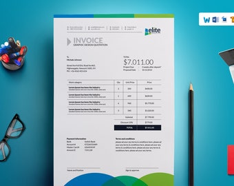 Photographer Invoice Template Invoice Design Receipt - Make an invoice in word tobacco online store