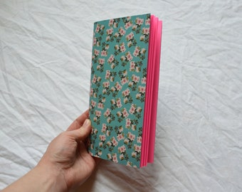 Handmade Travellers Notebook Insert: pink pages