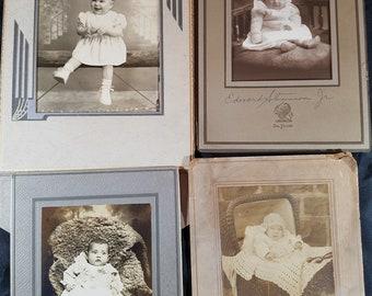 Four Photos of Babies Circa 1900 to 1930s