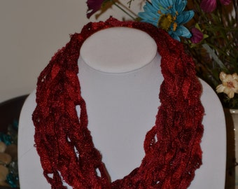 Ruby Red Scarf/Necklace - Many Colors Available!