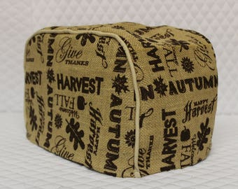 Autumn Burlap Toaster Cover