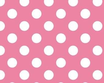 Dots Medium Hot Pink by RBD Designers for Riley Blake, 1/2 yard