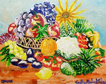 Bountiful Harvest - Original acrylic on canvas