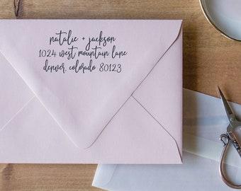Return Address Stamp Calligraphy Stamp, Personalized Stamp for Wedding Return Address Stamp, Modern Address Stamp Address