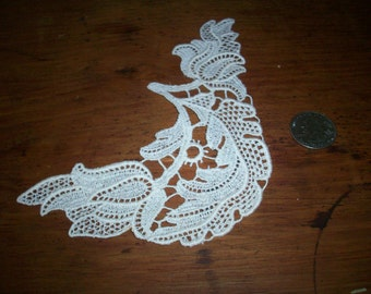 cotton 1920s antique lace applique