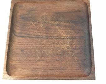 Vintage Teak Plates, Teak Dishes, Denmark , Picnic Plates