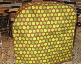 Kitchen aid mixer cover in browns and greens