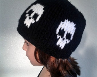Skull beanie - skull hat - skull item - skull accessory - Halloween hat - skulls - skull cap - winter skull hat - hat with skulls