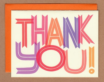 Sherbet Colors Thank You Card