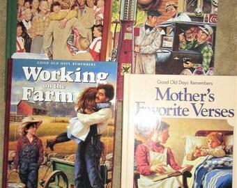 Four retro 1940's 1950's books farm Mother words, Home Christmas rmemories lot