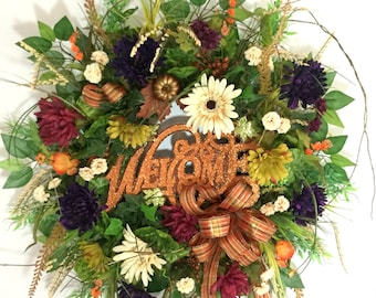 Fall Wreaths For Sale, Artificial Wreaths, Autumn Wreaths, Outdoor Fall Decorations, Wreaths For Front Door, Outdoor Wreaths, Fall Wreaths