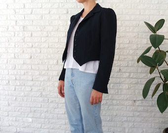 Navy Cropped Blazer