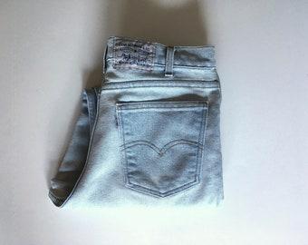 Vintage Men's 80's Levi's 530, Jeans, Light Wash, Denim, Relaxed Fit (W34)