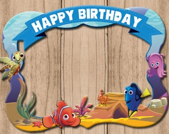 Finding Nemo & Dory themed birthday party photo frame2