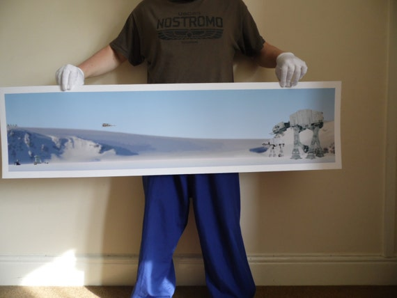 Hoth Battle Commemorative Poster Print--wow.