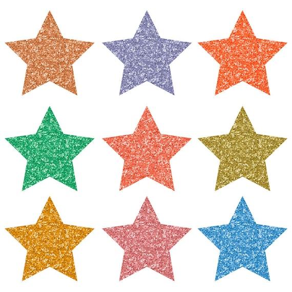 15 glitter star clip art colorful glitter sparkle clipart rh etsy com Glitter Stars Animated Clip Art Glitter Stars Animated Clip Art