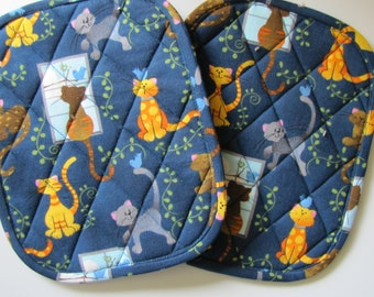 Here Kitty Kitty Kitty potholders - set of 2