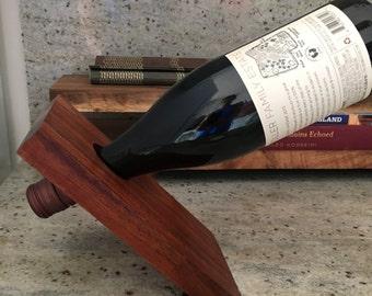 Hawaiian Koa wood balancing wine holder