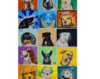 Dog Park Pups Canvas Print