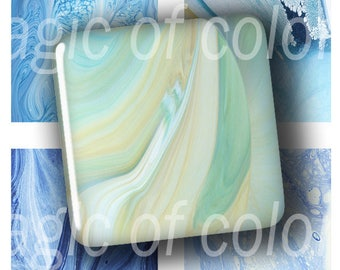 Abstract Images - 63  1x1 Inch Square JPG images - Digital  Collage Sheet