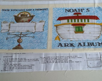 Fabric Panel to Sew Noah's Ark Album     Soft Book for Children    d Wecker-Frisch Fabric