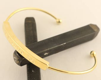 Stacking Bracelet - Silver Bracelet - Gold Bracelet - Cuff Bracelet - Skinny Cuff Bracelet - Personalized Bracelet - Name Bracelet