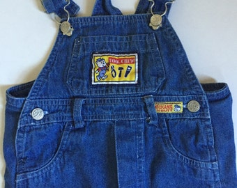 Baby Bib Jeans, Vintage Overalls, Baby Boy Jeans