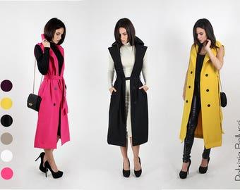 New!!! Sleeveless long coat