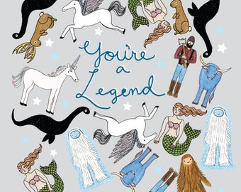 You're a Legend postcard s