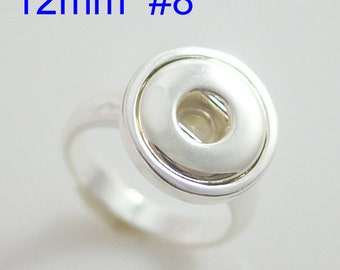Mini Snap Ring fits 12mm snap charms.  Size 8