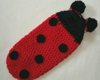 Ready to ship now! Cocoon, Hooded, Lady Bug, Newborn, Halloween Costume, Photography Prop