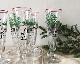 Lets make hay !set of 6 vintage pilsners