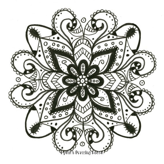 Ornate Mandala Coloring Page