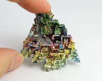 Colorful Bismuth Crystal Specimen (36 grams, Grown in Germany) #BIS16