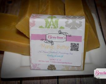 All Natural, Vegan Friendly, Herbal Mango Butter Soap