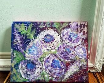 Purple Mum Painting