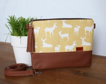 Crossbody Bags Yellow SALE Travel gift for Woman Vegan Small Purse Fabric Handbag Vegan Gift idea travel Crossbody bag