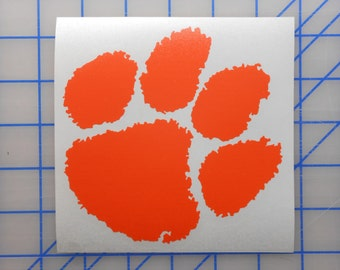 Clemson Tigers Decal - 2 Sizes - 16 Colors Free Shipping!!!