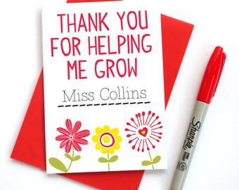 Thank You Teacher Appreciation Card