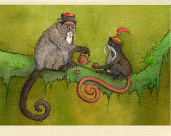 Monkey Paw Tea Greeting Card