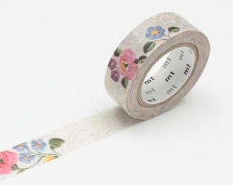 Lace Embroidery Washi Tape • MT Masking Tape • MT ex Washi Tape • Wedding Washi Tape • Washi Tape UK • Japanese Stationery • Kalocsa