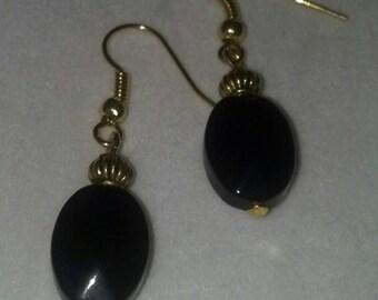 Black Gold Dangles
