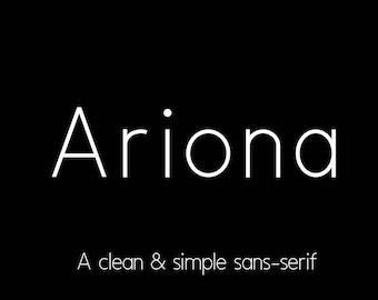 Ariona Sans-Serif Font, commercial use font, light font, thin font, sans-serif, font, full font, logo font, invitation font, template font