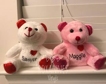 Personalized Valentine Plush Bears