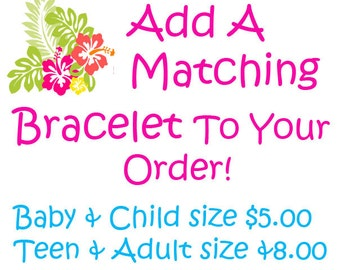 Add A Matching Chunky Bracelet To Your Order Bubblegum Bracelet, Baby, Toddler, Girl, Ladies Choose Color Birthday Custom Color Photo Prop