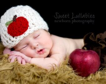 Baby Apple Hat, Baby Halloween Hat, Baby Costume, Infant Hat, Infant Hallowen Hat, Newborn Costume, Newborn Hat, Kids Autumn, Baby Autumn